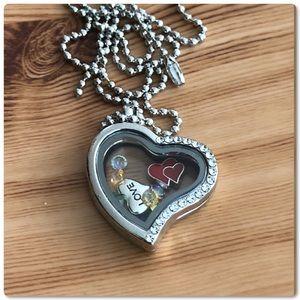 'Love' Living Memory Glass Locket Pendant